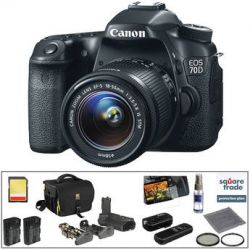 Canon EOS 70D DSLR Camera with 18-55mm f/3.5-5.6 IS STM Lens B&H