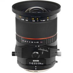 Bower 24mm f/3.5 ED AS UMC Tilt-Shift Lens SLY24TSN B&H Photo