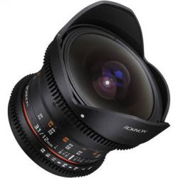 Rokinon 12mm T3.1 ED AS IF NCS UMC Cine DS Fisheye Lens DS12M-C