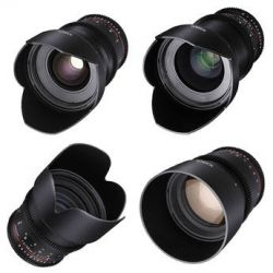 Rokinon 24, 35, 50, 85mm T1.5 Cine DS Lens Kit for Sony A-Mount