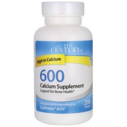 21st Century 600 Calcium Supplement 600 mg 200 Tabs