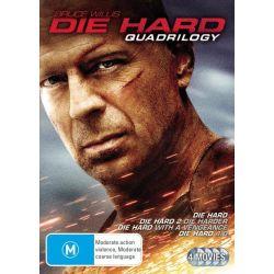 Die Hard Quadrilogy on DVD.