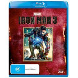 Iron Man 3 (3D Blu-ray) on DVD.