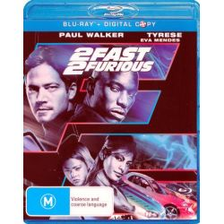2 Fast 2 Furious (Blu-ray) on DVD.