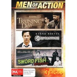 Constantine / Sword Fish / Training Day on DVD.