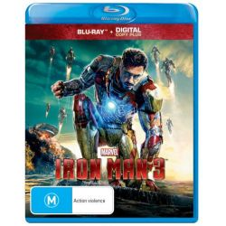 Iron Man 3 (Blu-ray/Digital Copy) on DVD.