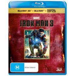 Iron Man 3 (3D Blu-ray/Blu-ray/Digital Copy) on DVD.