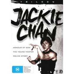 Jackie Chan Trilogy (Armour of God / The Young Master / Police Story) on DVD.
