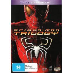 Spiderman Trilogy (DVD/UV) (Spiderman / Spiderman 2 / Spiderman 3) on DVD.
