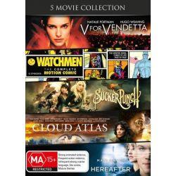 V For Vendetta / Watchmen /Sucker Punch / Cloud Atlas / Hereafter on DVD.