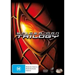 Spiderman Trilogy (Spiderman / Spiderman 2 / Spiderman 3) on DVD.