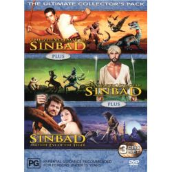 Sinbad Collection (The 7th Voyage of Sinbad / The Golden Voyage of Sinbad / Sinbad and the Eye of the Tiger) (3 Discs) on DVD.
