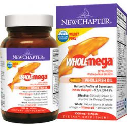 New Chapter - Wholemega 100% Wild Alaskan Salmon Extra Virgin Omega-Rich Fish