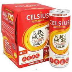 Celsius Sparkling Cola 4 x 12 oz 355ml Cans