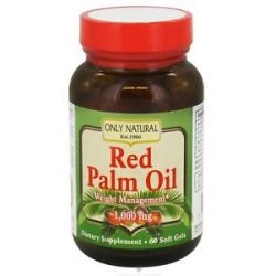 Only Natural Red Palm Oil 1000 MG 60 Softgels