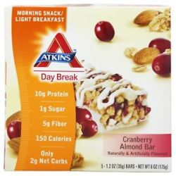 Atkins Nutritionals Inc Day Break Bar Cranberry Almond 5 Bars