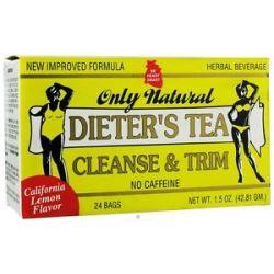 Only Natural Dieter's Tea Cleanse Trim California Lemon Flavor 24 Tea Bags