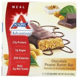 Atkins Nutritionals Inc Advantage Meal Bar Chocolate Peanut Butter 5 Bars