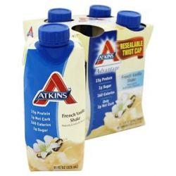 Atkins Nutritionals Inc Advantage RTD Shake 11 oz French Vanilla 4 Pack