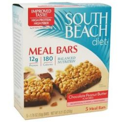 South Beach Diet Meal Bars Peanut Butter Chocolate Chip 5 Bars Formerly