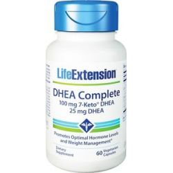 Life Extension DHEA Complete with 7 Keto DHEA 60 Vegetarian Capsules