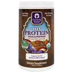 Genesis Today Flex Protein Vegan Superfoods Flax Ashwagandha 14 Oz