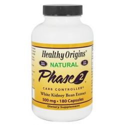 Healthy Origins Natural Phase 2 Carb Controller 500 MG 180 Capsules
