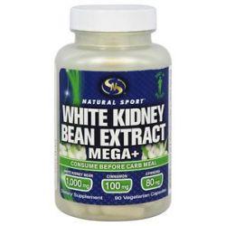 Natural Sport White Kidney Bean Extract Mega 90 Vegetarian Capsules