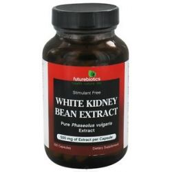 Futurebiotics White Kidney Bean Extract Stimulant Free 500 MG 100 Capsules 049479002207