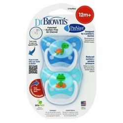 Dr Brown's Prevent Orthodontic Pacifiers Butterfly 12M 2 Pack