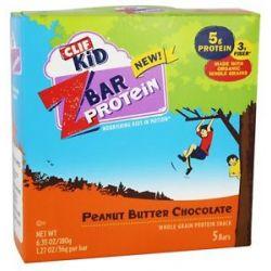 Clif Bar Kid Z Bar Protein Peanut Butter Chocolate 5 Bars