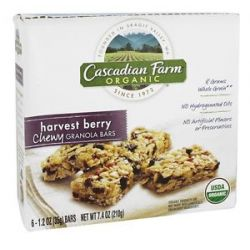 Cascadian Farm Organic Granola Bars Chewy Harvest Berry 6 Bars