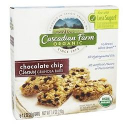 Cascadian Farm Organic Granola Bars Chewy Chocolate Chip 6 Bars