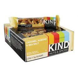 Kind Bar Nut and Spices Bar Caramel Almond Sea Salt 1 4 Oz