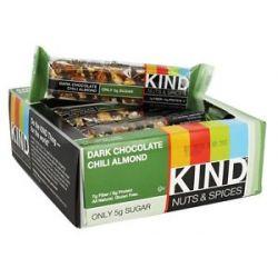 Kind Bar Nut Spices Bar Dark Chocolate Chili Almond 1 4 Oz