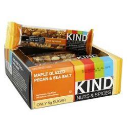 Kind Bar Nuts Spices Bar Maple Glazed Pecan Sea Salt 1 4 Oz