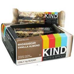 Kind Bar Nut and Spice Bar Madagascar Vanilla Almond 1 4 Oz