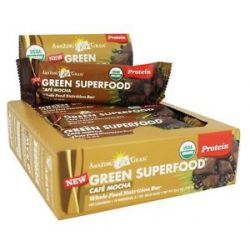 Amazing Grass Green Superfood Whole Food Nutrition Bar Cafe Mocha 2 1 Oz