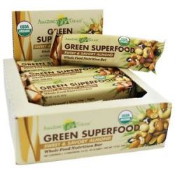 Amazing Grass Green Superfood Whole Food Energy Bar Sweet Savory Almond 1