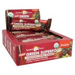 Amazing Grass Green Superfood Whole Food Nutrition Bar Chocolate Cherry Almond