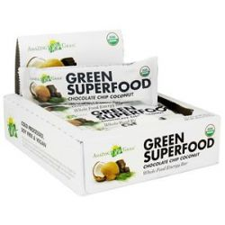 Amazing Grass Green Superfood Whole Food Energy Bar Chocolate Chip Coconut 2