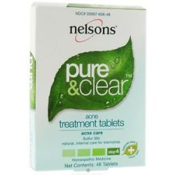 Nelsons Pure Clear Acne Treament Tablets Sulfur 30 C 48 Tablets