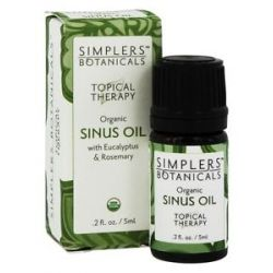 Simplers Botanicals Topical Therapy Organic Sinus Oil 5 Ml