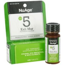 Nuage 5 Kali Mur Potassium Chloride Homeopathic Tissue Remedy 125 Tablets
