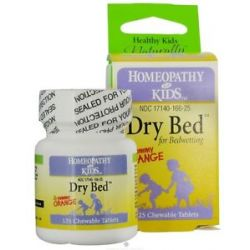 Herbs for Kids Dry Bed for Bedwetting Yummy Orange 125 Chewable Tablets