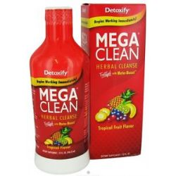 Detoxify Brand Mega Clean Herbal Cleanse Tropical Flavor 32 Oz