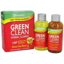 Detoxify Brand Green Clean Herbal Cleanse Honey Tea Flavor 8 Oz