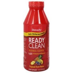 Detoxify Brand Ready Clean Herbal Cleanse Tropical Fruit Flavor 16 Oz 870434005519