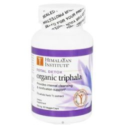 Himalayan Institute Total Detox Organic Triphala 750 MG 60 Vegetarian