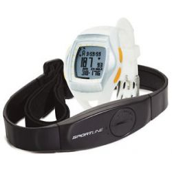 Sportline Duo 1060 Dual Use Heart Rate Monitor Watch Designed for Women White 095121052960